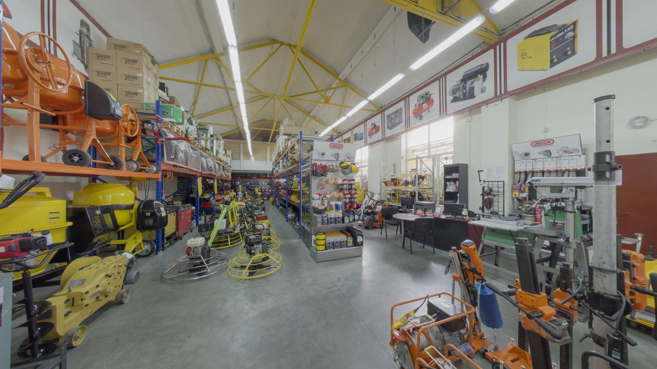 Virtual Tour of the Stroy-Tech Store, Kaliningrad, Russia. Stroytekh: compressors, generators, loaders, racks, power tools in Kaliningrad.